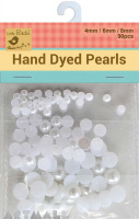 Pearl Beads D/6/8mm Assoted 90Pc White