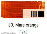 Oil for ART, Mars orange 20 ml.