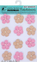 Embossed Pearl Petals Pink 12Pc
