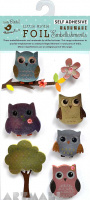 Foil Printed Owls 7Pc Mini Embellishment