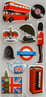 "3D Stickers ""London"""