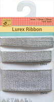 Zari Ribbon Silver 6mm,12mm & 25mm - 3 Mtr
