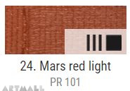 EXTRA Oil paint , Mars red light, 20 ml
