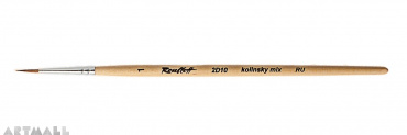 Round brush, kolinsky mix, №1