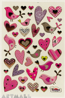 "Stickers ""Birds & Hearts"""