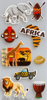 "3D Stickers ""Africa"""
