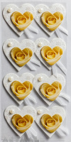 "3D Stickers ""Roses Hearts"""