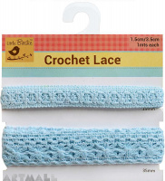 Lace Trim Blue 2mtr