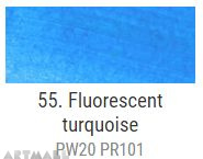 A'KRYL Fluorescent color, Turquoise 100 ml
