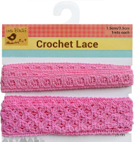 Lace Trim Pink 2mtr