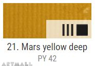 EXTRA Oil paint , Mars yellow deep, 20 ml