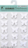 Pearl Butterfly White 15 Pc