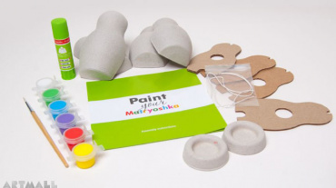 "Shar-papier toys, set ""Paint your Matryoshka"""