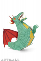 "Paper Toy ""Green Dragon"""
