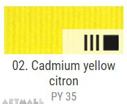 EXTRA Oil paint , Cadmium yellow citron, 20 ml
