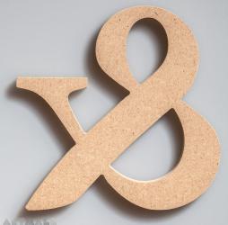 """Wooden Ampersand """"&"""""""