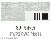 Oil for ART, Metallic silver 60 ml.