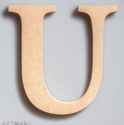 """Wooden Letter """"U"""""""