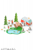 Picnic Paper Toy