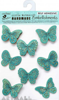 Printed Butterflies Seafoam 8Pc