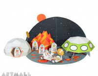 Space Paper Toy, size: 48 x 32 x 12 cm