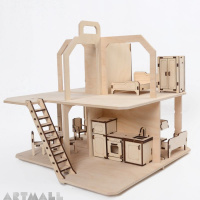 3D wooden puzzle - dollhouse with furniture