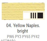 Oil for ART, Napoli yellow light 20 ml.