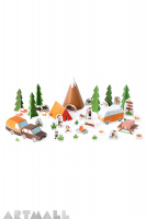 Camping, size: 50 x 35 x 15 cm