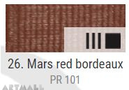 EXTRA Oil paint , Mars red bordeaux, 20 ml