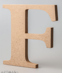 "Wooden Letter ""F"""
