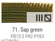 Oil for ART, Sap green 20 ml.