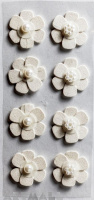 "3D Stickers ""White Flowers"""