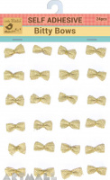 Self Adhesive Bitty Bow Golden Charm 24Pc