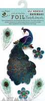 Foil Sticker Peacock 6Pc Mini Embellishment