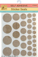 Sticker Seals Self Adhesive Burlap 4sheet