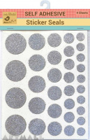 Self Adhesive Glitter Dots Siliver 4sheet
