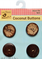 Coconut Button Small 2 Hole 4Pc