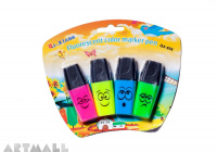 QX-806- Fluorescent color marker pen 4 pcs