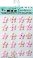 Embossed Jewelled Daisies Raspberry Ice 20 Pc
