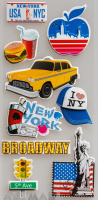 "3D Stickers ""New York"""