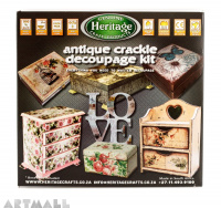 Antique Crackle Decoupage Kit.