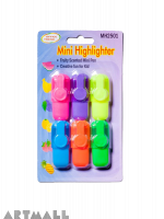 2501- Fluorescent color marker pen 6 pcs