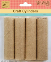 Craft Rolls Brown Paper Cylinder 25mm dia H 4inch, pack of 4pcs