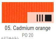 EXTRA Oil paint , Cadmium orange, 20 ml