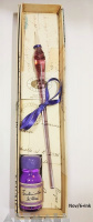 Glass pen in gift box with ink 10 cc