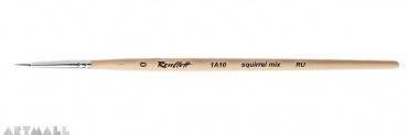 Round brush, squirrel mix synthetic, №0