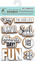 Fun Life Embellishments 8Pc