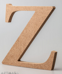 "Wooden Letter ""Z"""
