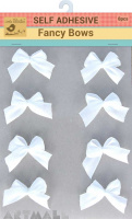 Self Adhesive Fancy Bow Snow 8Pc