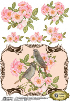 Decals Decoupage Paper A4 '' Birds in briars''